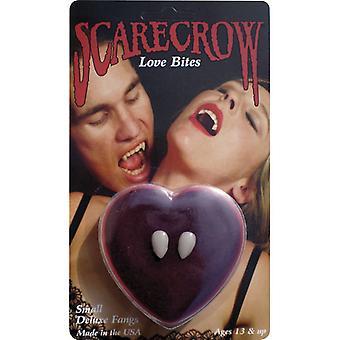 Vampirzähne deluxe mit Box und Haftcreme Dracula Vampir Gebiss