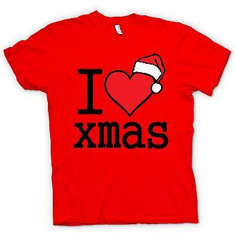 Womens T-shirt - I Love Xmas - Funny Christmas