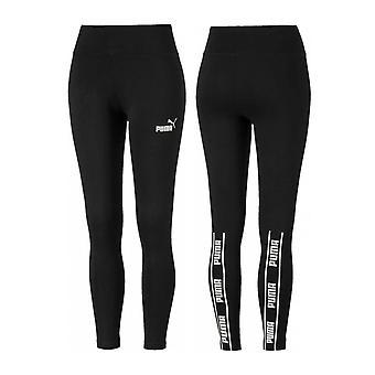 Puma Amplifié Rear Tape Womens Ladies Sports Fitness Legging Noir