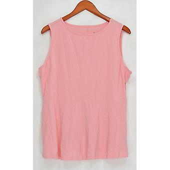 Anybody Women's Top Loungewear Cozy Knit Swing Sleeveless Pink A289830