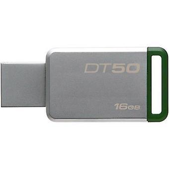 Kingston technology datatraveler 50 16gb 16gb usb 3.0 (3.1 gen 1) tipo-a unidad flash usb verde y plateado