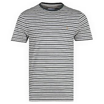 Farah Reeth Thin Stripe Deep Olive T-Shirt