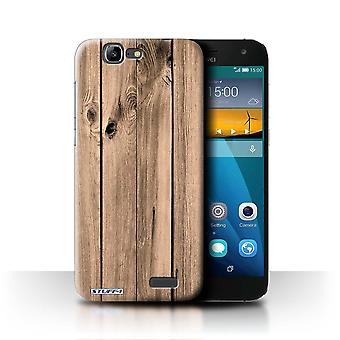 STUFF4 Tel. Case / Cover für Huawei Ascend G7 / Plank Design / Wood Grain Effect/Muster Sammlung