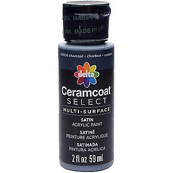 Ceramcoat Select Multi-Surface Paint 2oz-Charcoal 4000-04038