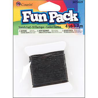 Fun Pack Stretch Cord ? Yards Pkg Black Ccsc 34229