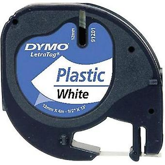 Labelling tape DYMO 91221 Tape colour: Pearl white Font colour:Black 12 mm 4 m