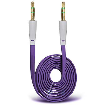 ONX3 (Purple) LG V20 3.5mm Stereo Male to Male Jack Plug Audio Aux Flat Cable Sound Lead Gold Connectors