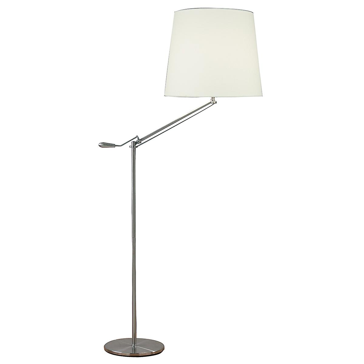 Dar INF4946 Infusion Adjustable Floor Lamp With White Cotton Shade