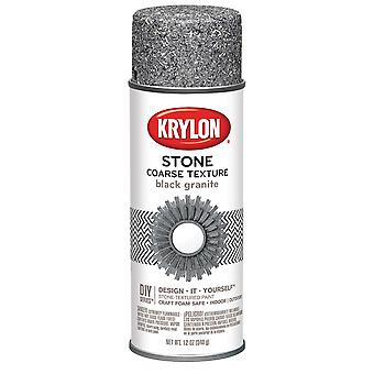 Coarse Stone Aerosol Spray 12oz-Black Granite CS-18201