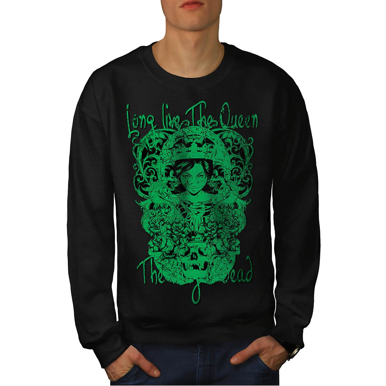 Long Live The Queen Evil Kingdom Men Black Sweatshirt | Wellcoda