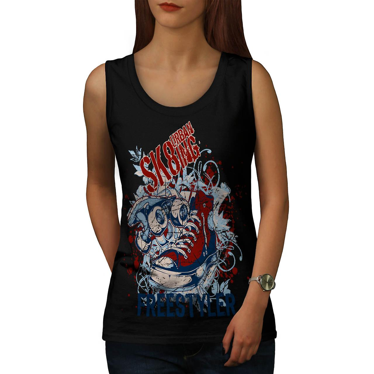 Urban Skate Freestyle Skateboard Frauen Tank-Top schwarz | Wellcoda