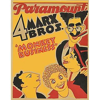 Monkey Business Movie Poster (11 x 17)