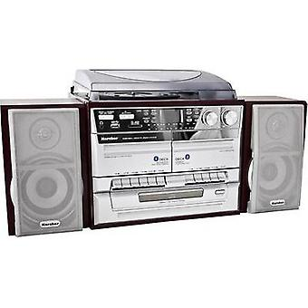 Audio system Karcher 805649 CD, Tape, AM, Turntable, SD, USB, FM, Wood, Silver