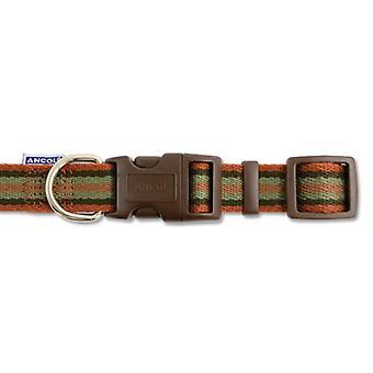 Indulgence Cotton Adjustable Collar Brown Stripe 30-50cm Sz 2-5