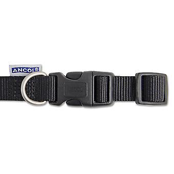 Heritage Nylon Adjustable Collar Black 25mm X45-70cm Sz5-9
