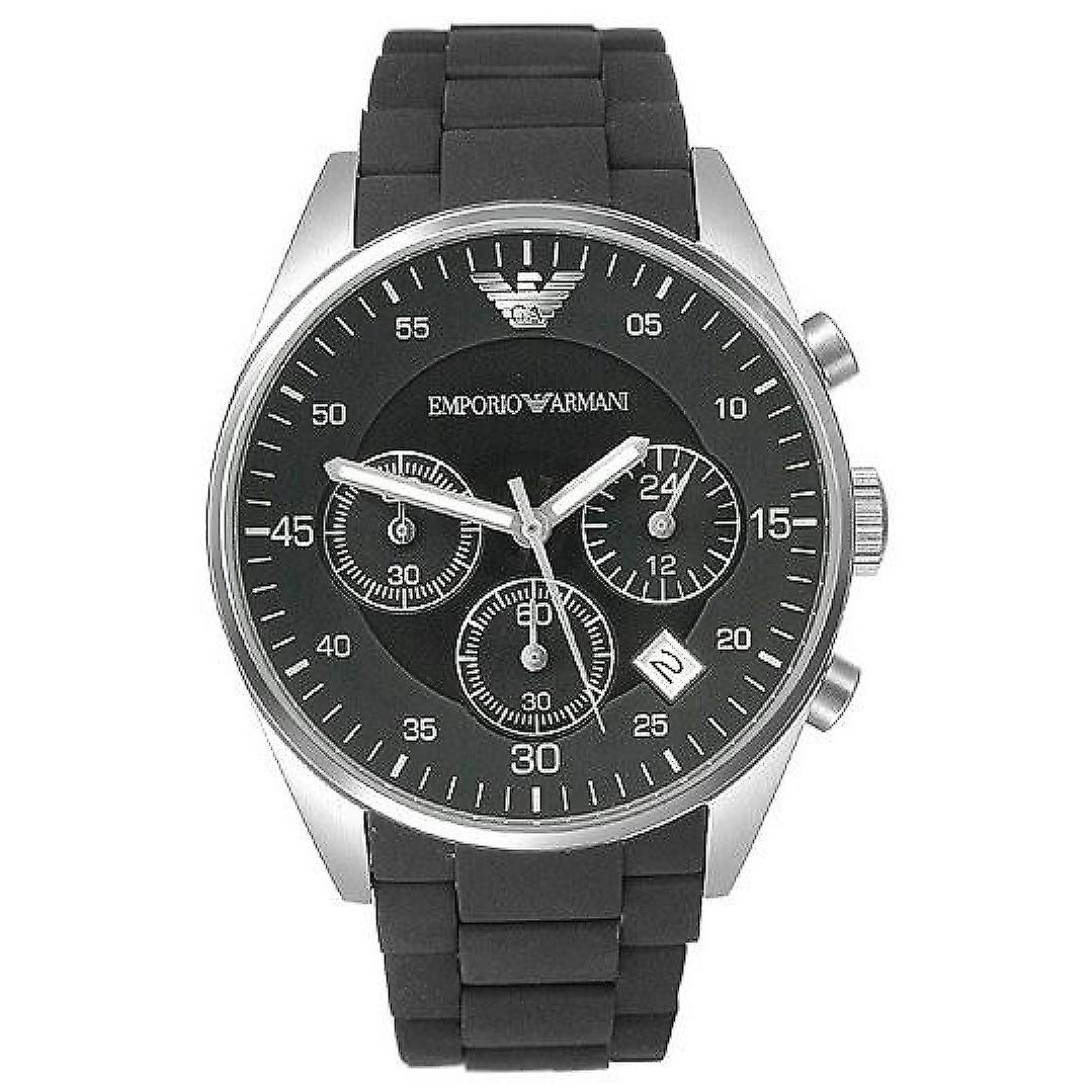 Emporio Armani AR5868 Green Sports Silicone Quartz Chronograph Watch