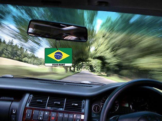 Brasilien Flagge personalisierte Auto-Lufterfrischer