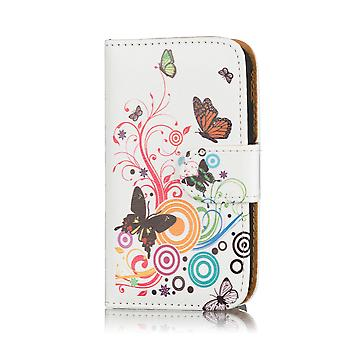 Design book PU leather case for Sony Xperia M4 Aqua - Colour Butterfly