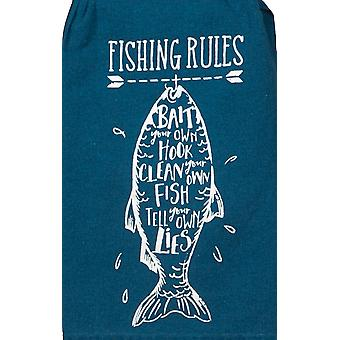 Fishing Rules Bait Your Own Hook Flour Sack 26 Inch Kitchen Dish Towel