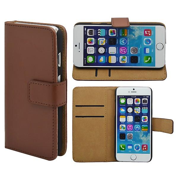 Wallet pouch for Apple iPhone 6 4.7 Deluxe Braun
