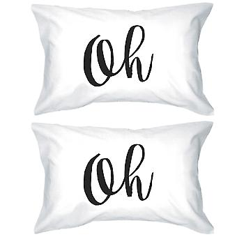 Oh Lovely Letter Printed Unique Graphic Design Standard Pillow Case