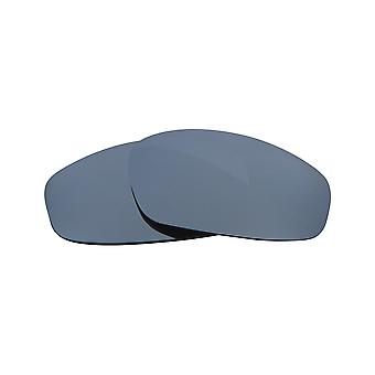 New SEEK Polarized Replacement Lenses for Oakley WIND JACKET Grey Silver Mirror