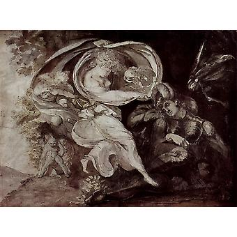 Henry Fuseli - Sketched Poster Print Giclee