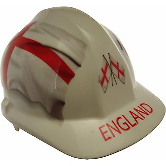 England Themed Hard Hat in White