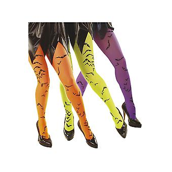 Halloween and horror  Neon Pantyhose With Bats
