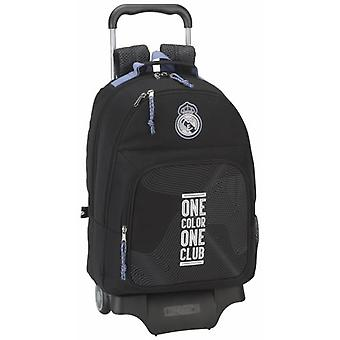 Real Madrid Mochila 560 Con Carro 905 Real Madrid Black (Toys , School Zone , Backpacks)