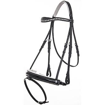 QHP Black Aphrodite flange (Horses , Horse riding equipment , Head stall , Halters mount)