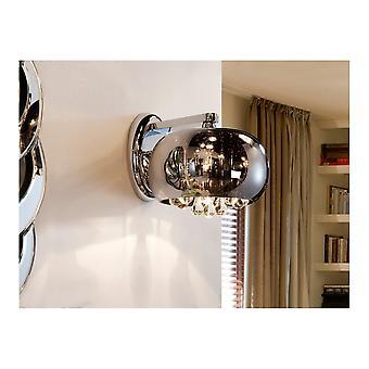 Schuller Argos Oval Glass Bowl Crystal Rain Drops Wall Light