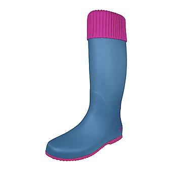 Butterfly Twists Windsor Wellies Womens Festival Wellington Boots - Grey and Pink