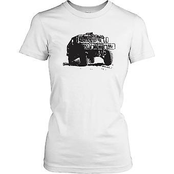 Dames t-shirt DTG Print - ons leger Humvee-
