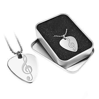 Engraved Guitar Pick - Engraved Musical Gift - Treble Clef Design