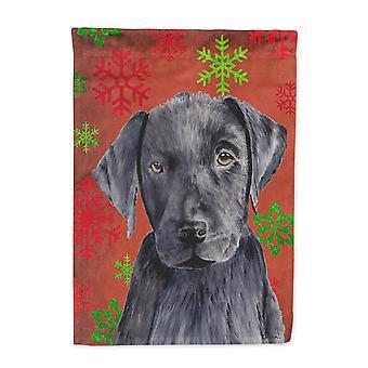Carolines Schätze SC9404-FLAG-PARENT Labrador rot und grün Schneeflocken Ferien