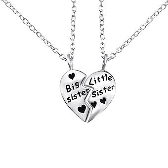 Big Sister Little Sister - 925 Sterling Silver Plain Necklaces - W26373X