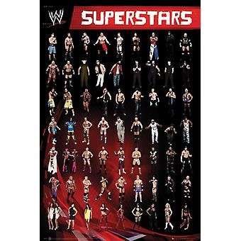 WWE Superstars Poster Poster Print by