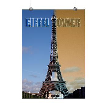 Matte or Glossy Poster with Eiffel Tower Day Fashion | Wellcoda | *q192