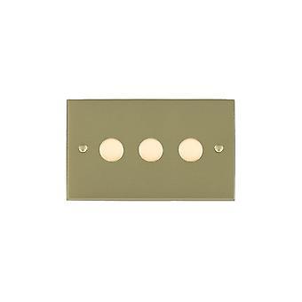 Hamilton Litestat Cheriton Victorian Satin Brass 3g 250W Multi-Way Dim SB
