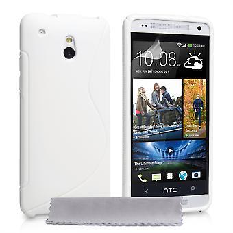 Caseflex HTC One Mini Silicone Gel S-Line Case - White