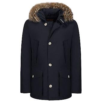 Woolrich men's WOCPS2477DKN Blau cotton coat
