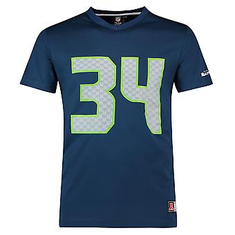 Majestic NFL Jersey shirt - navy Seattle Seahawks #34 Rawls