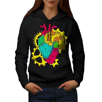 Heart Engineer Nerd Geek Women BlackHoodie | Wellcoda