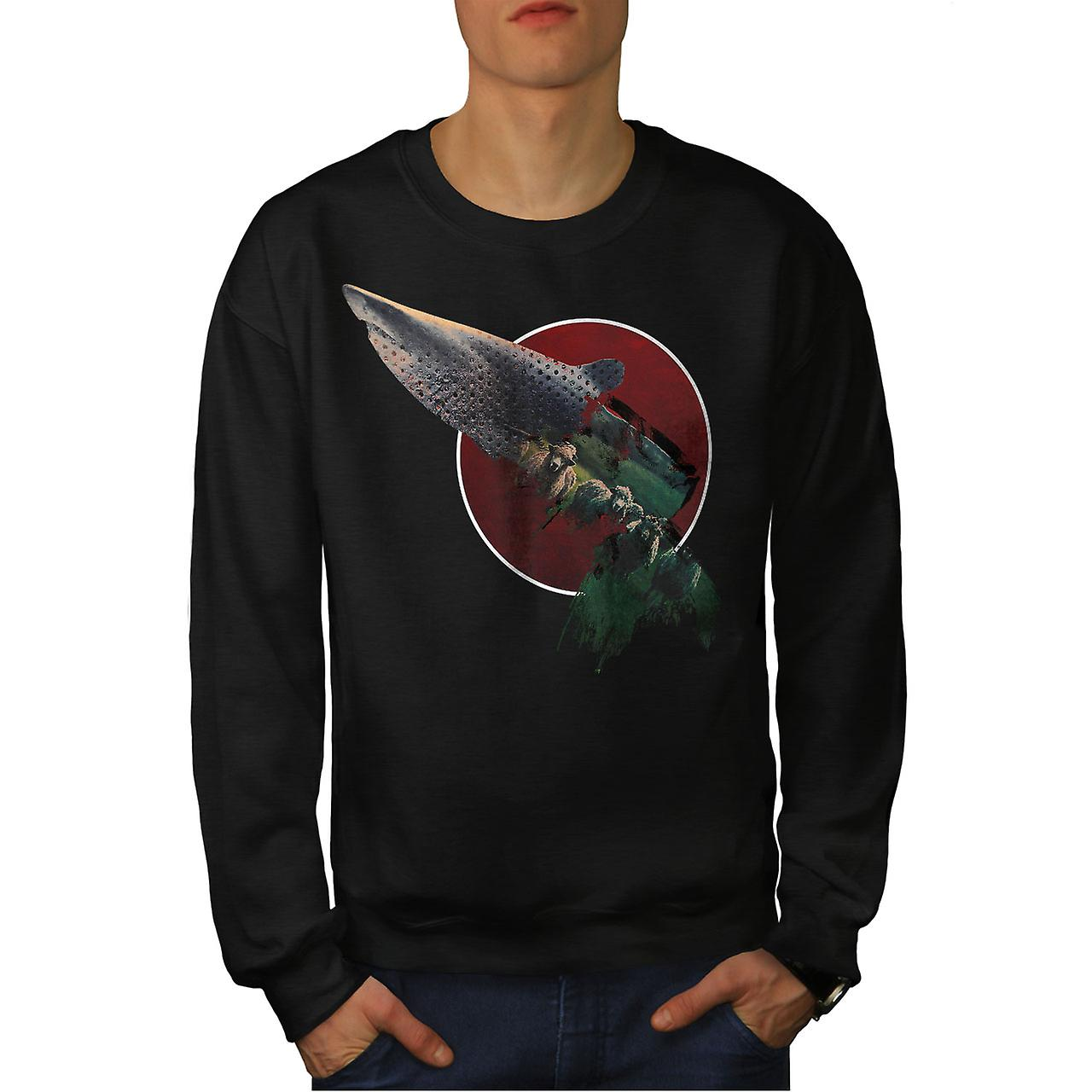 Requin bête hommes animaux sauvages noirSweatshirt