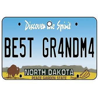 North Dakota - Best Grandma License Plate Car Air Freshener