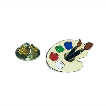 Artists Pallet Lapel Pin Badge
