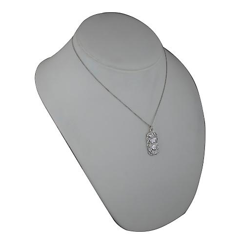 Silver 33x17mm Cancer Zodiac Pendant with a curb Chain 18 inches
