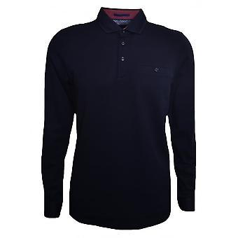 Ted Baker Ted Baker Men's Navy Blue Long Sleeved Scooby Polo Shirt