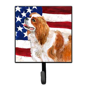 Carolines Treasures  BB9663SH4 Cavalier Spaniel Patriotic Leash or Key Holder